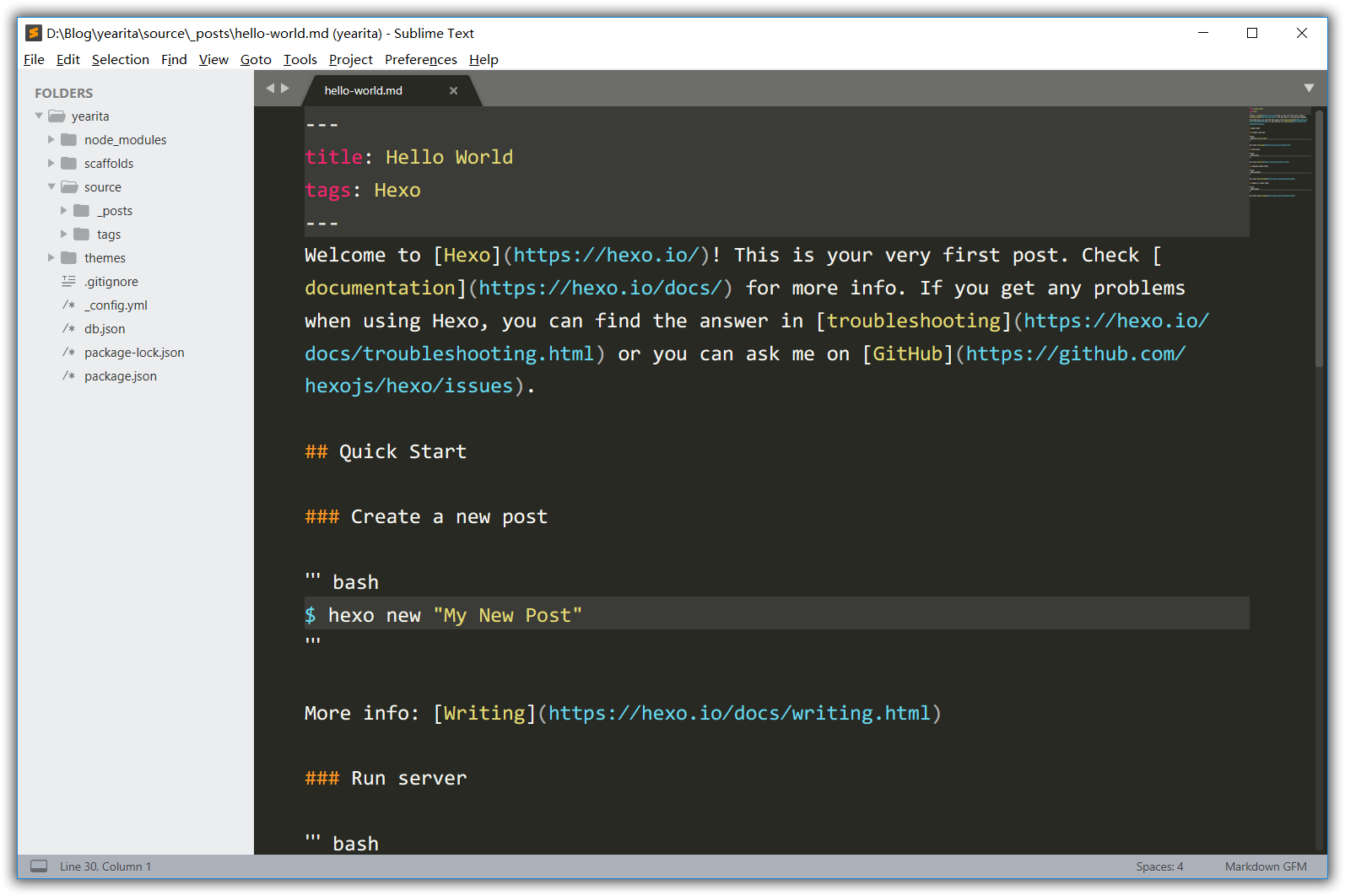 Sublime Text 3 用户界面